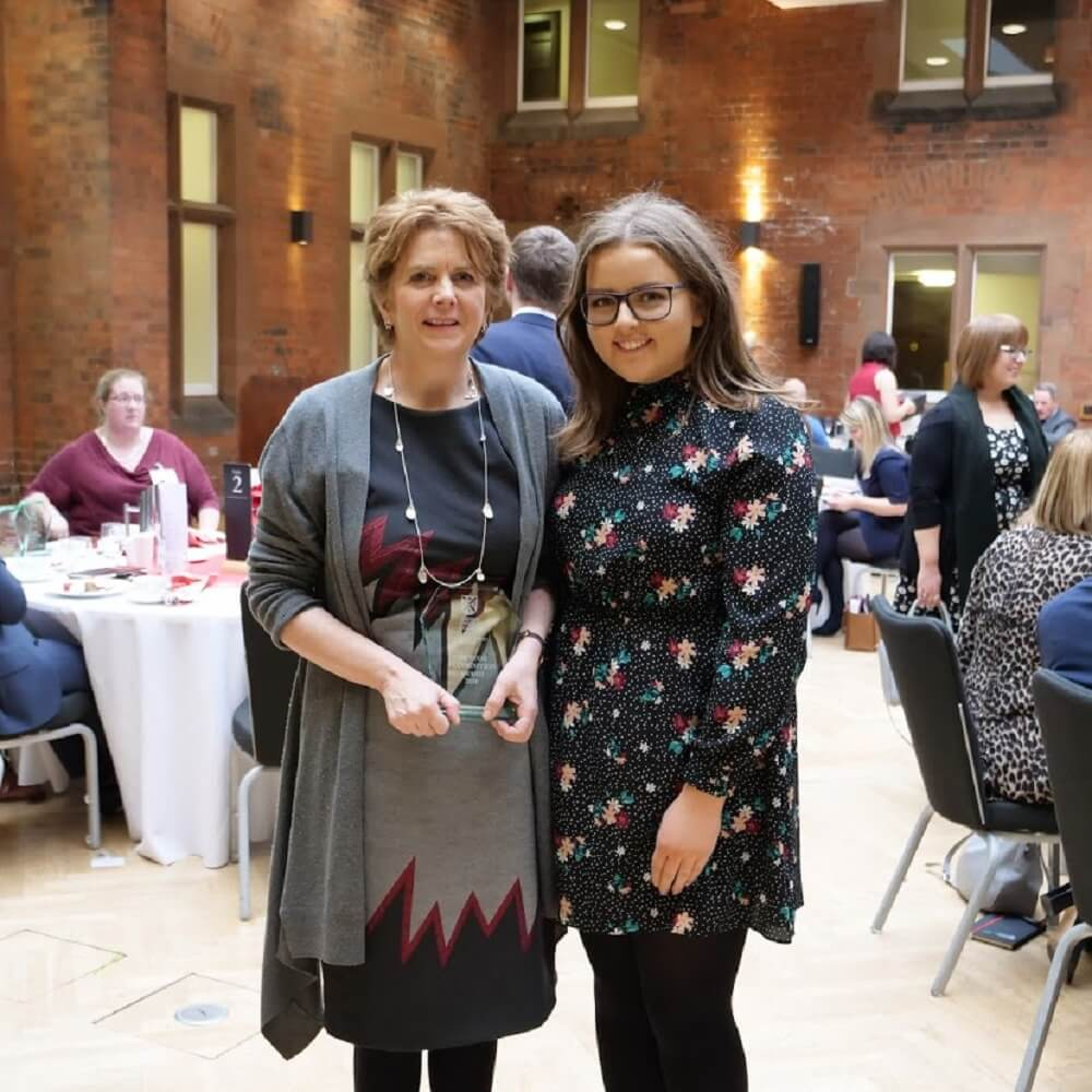 Mary McAllister receives the QUB Mentor Recognition Award