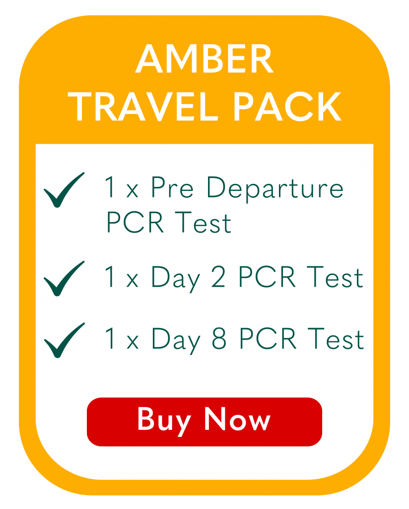 Covid Amber Travel Pack