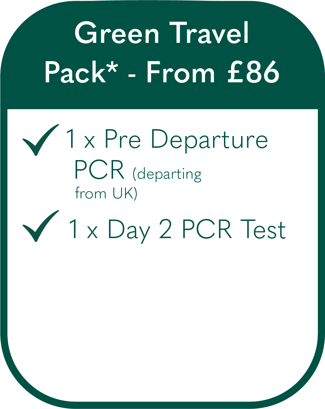 Covid-19 Test to Return Travel Pack